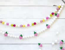 Felt Ball Garland - Strawberry Lemonade