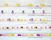 Felt Ball Garland - Summer Swirl