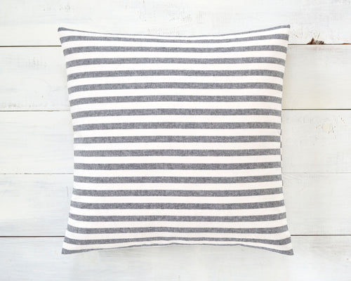 Black and White Striped Pillow Cover