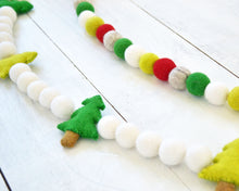 Felt Ball Garland - Christmas Trees