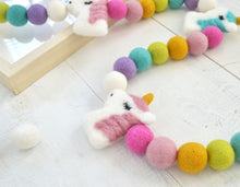 Felt Ball Garland - Unicorns