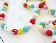 Felt Ball Garland - Whimsical Swirl Ball