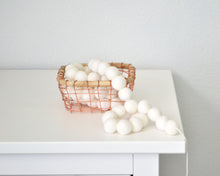 Felt Ball Garland - 2 cm Ivory or White
