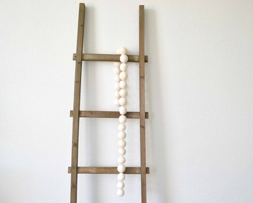 Felt Ball Garland - 4cm White