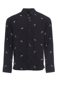 INTRICATE FLORAL DITSY PRINT SHIRT