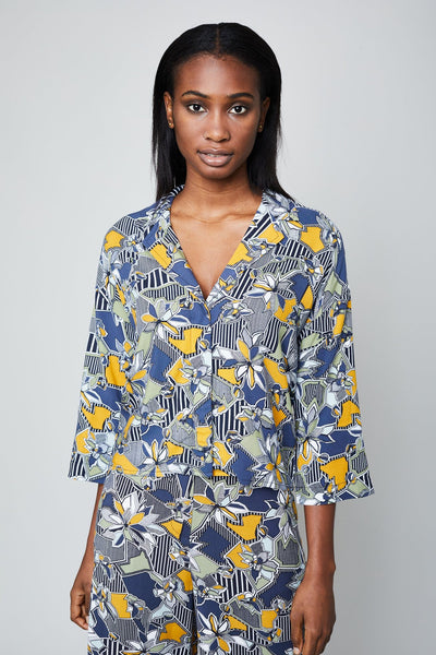 THE GEO FLORA BLOUSE