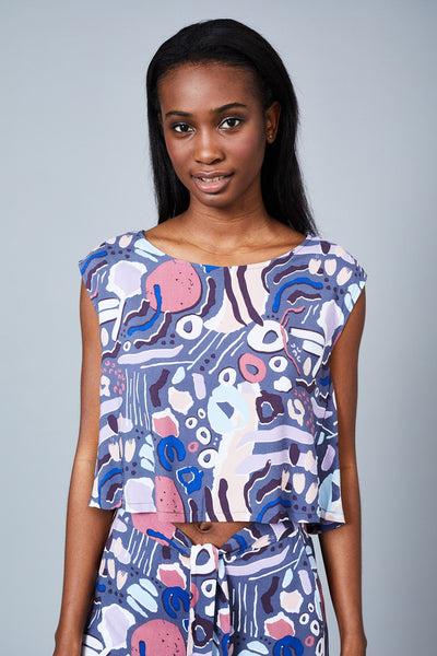THE NOSTALGIA PRINT BLOUSE