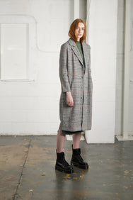 STEPHENSON CHECK OVERCOAT