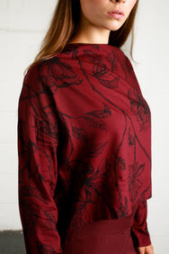 INTRICATE ROSE BLOUSE