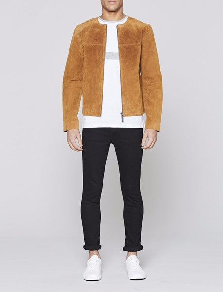 Lamorna Real Suede Leather Bomber Jacket