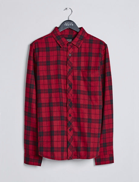 Red Breach Check Shirt