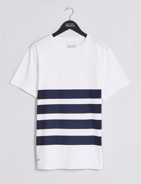 White & Blue Cooden Tee
