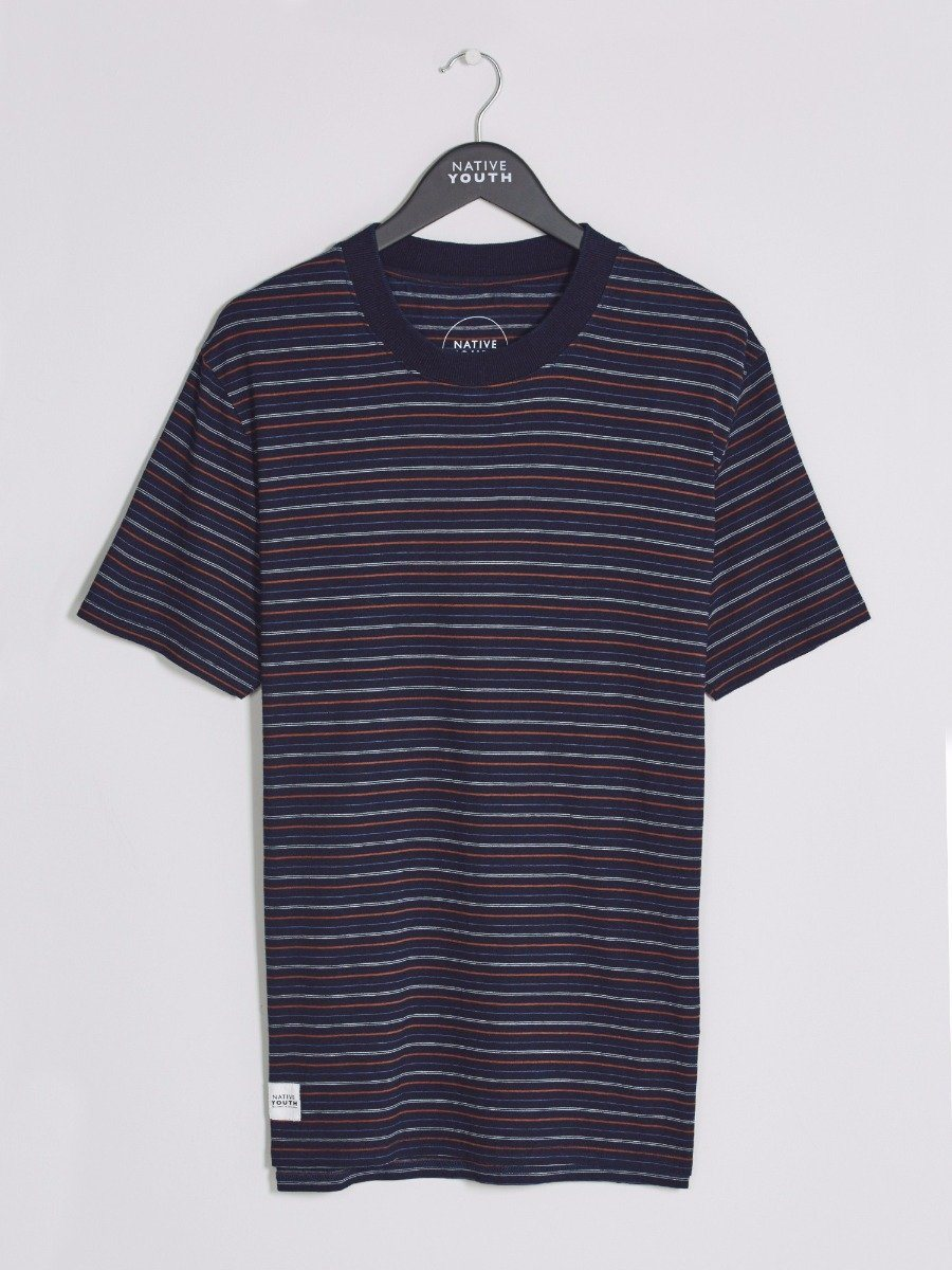 Multicoloured Pevensey Striped Tee