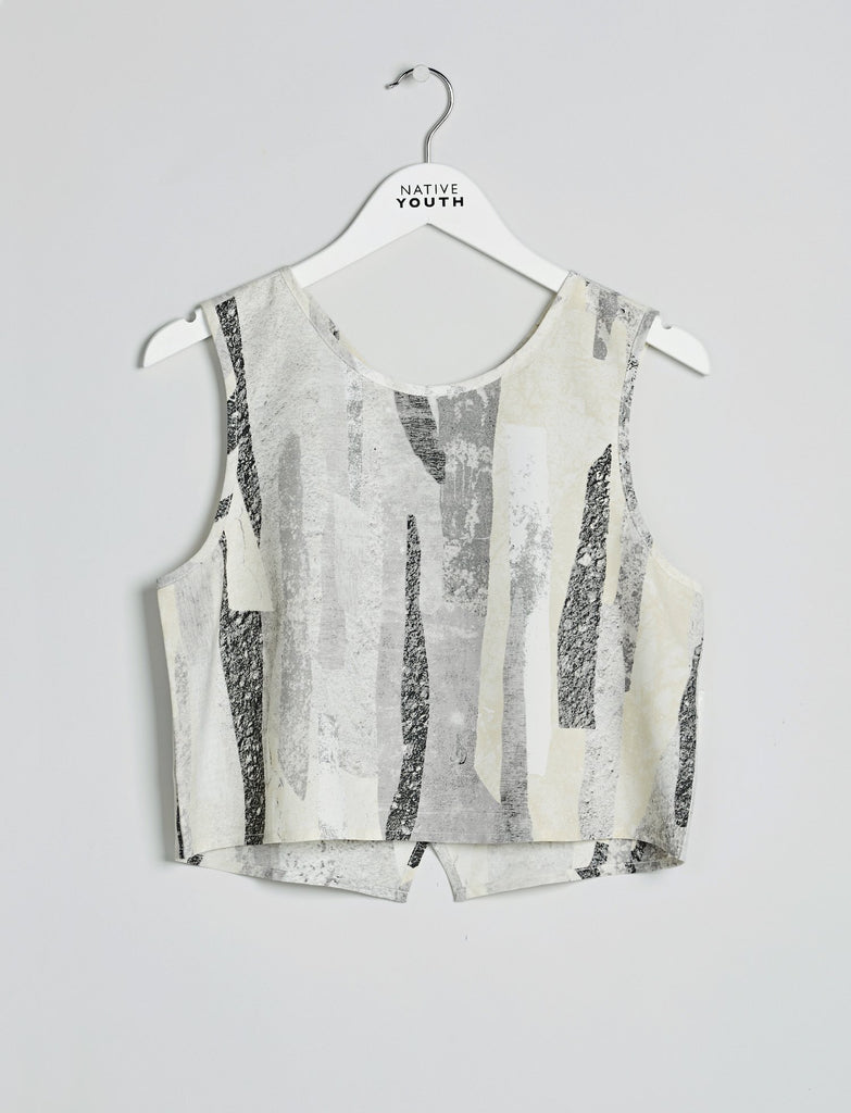 Rockslide Print Crop Top