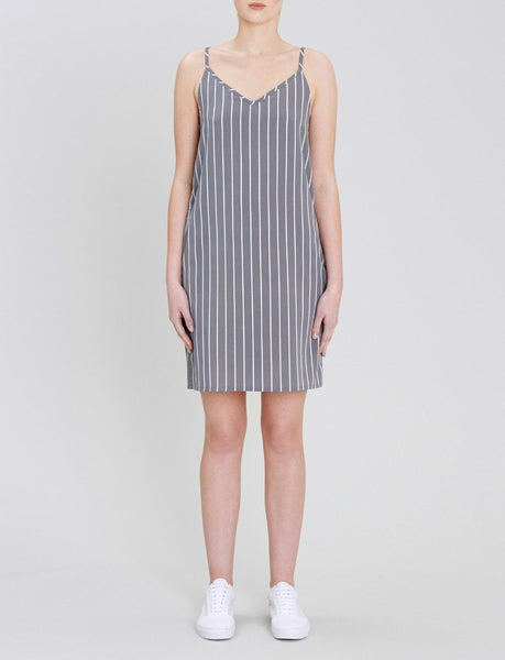 Aya Stripe Slip Dress