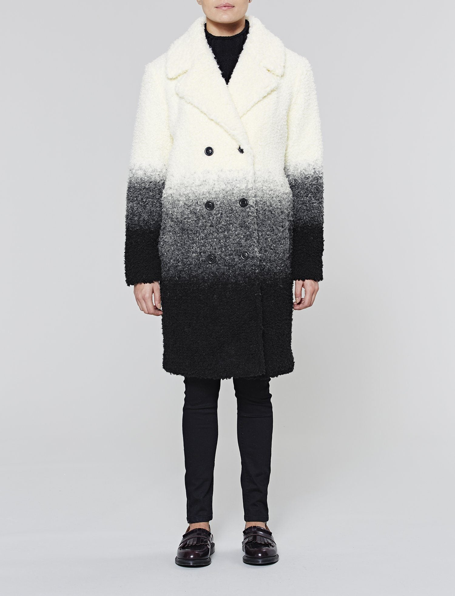 Teddy Cocoon Jas.Women S Wool Ombre Teddy Coat Ecru Aw16 Native Youth