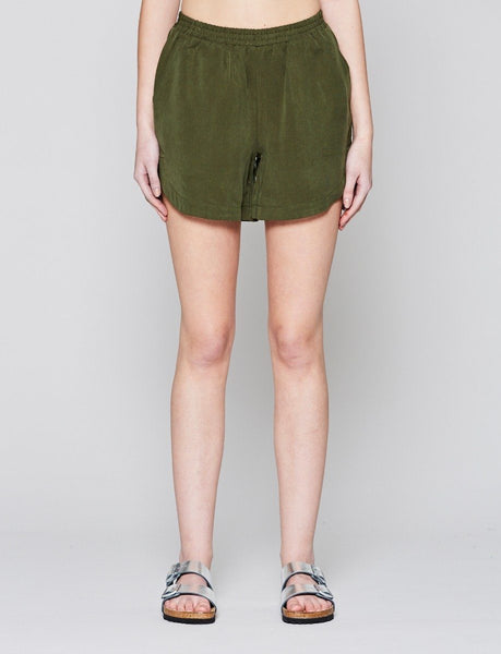 Olive Esker Dolphin Shorts