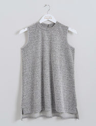 Concrete Jacquard High Neck Top