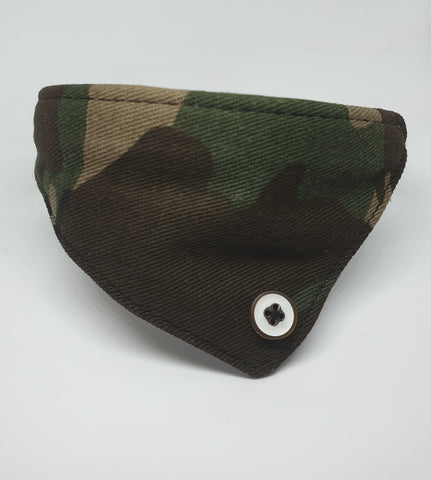 Army Green Mini Bandana Collar