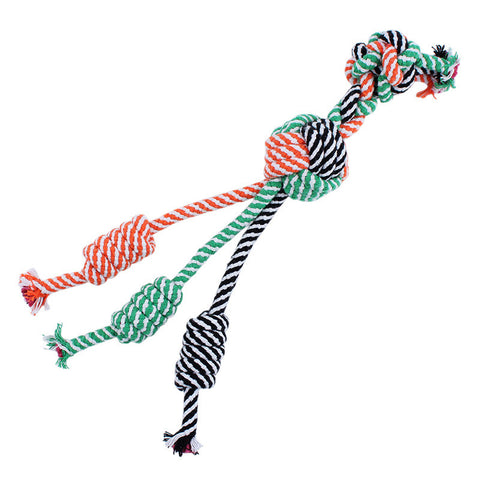 Three-Tailed Rope Tug Toy