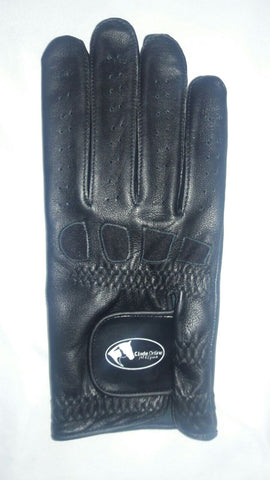 Soft Leather Show Gloves - Black