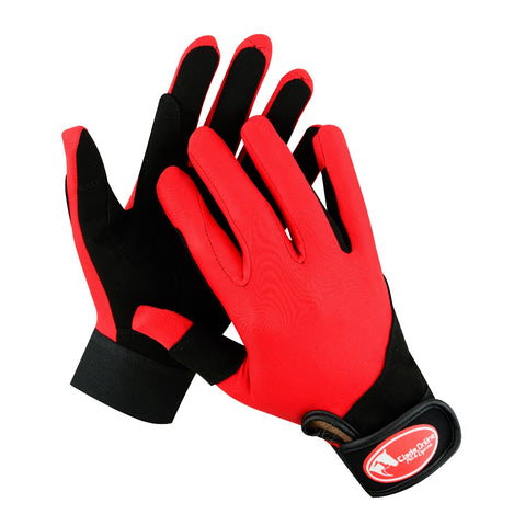 Synthetic Riding Gloves - Red