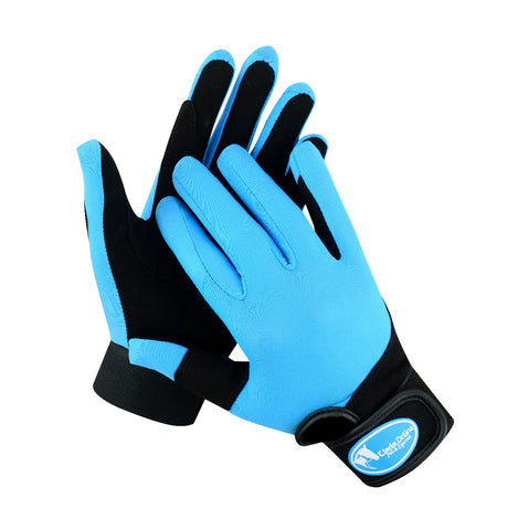 Synthetic Riding Gloves - Teal