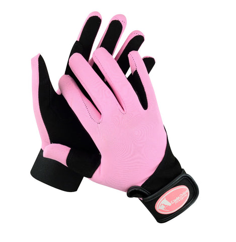 Synthetic Riding Gloves - Baby Pink
