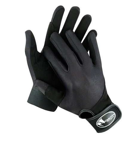 Synthetic Riding Gloves - Black