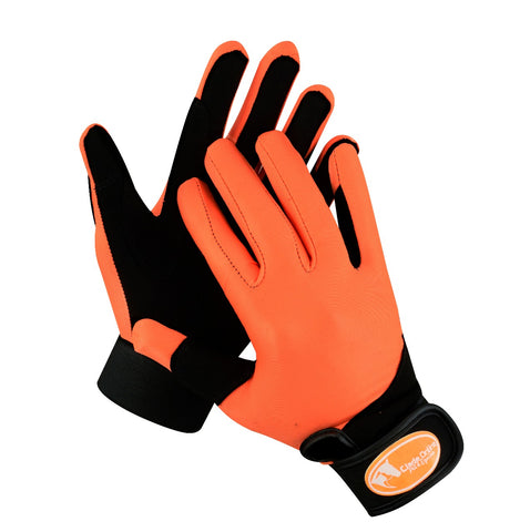 Synthetic Riding Gloves - Orange