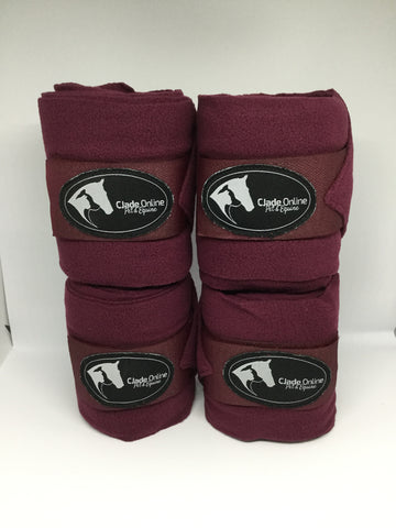 Polo Wrap Bandages - Burgundy