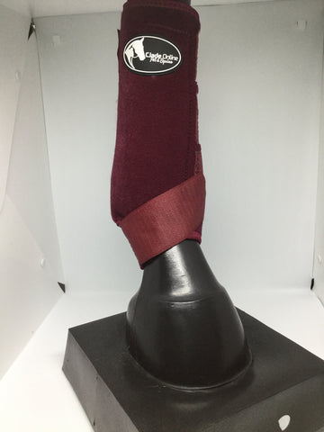 sling boot, sling boots, burgundy sling boots, sports boots, sports medicine boots, horse boots, burgundy horse boots, burgundy neoprene boots, neoprene sports boots, sporting boots, horse boots australia