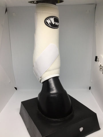 sling boot, sling boots, white sling boots, sports boots, sports medicine boots, horse boots, white horse boots, white neoprene boots, neoprene sports boots, sporting boots