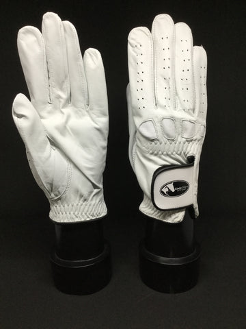 Soft Leather Show Gloves - White