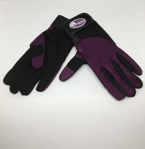 Synthetic Riding Gloves - Purple