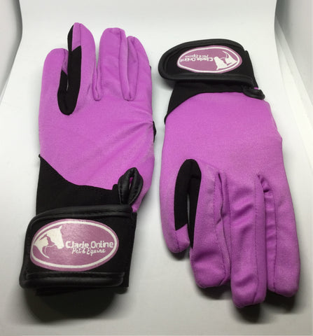 Synthetic Riding Gloves - Lilac