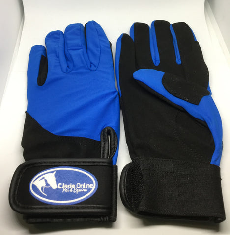 Synthetic Riding Gloves - Royal Blue