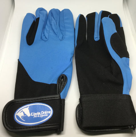 Synthetic Riding Gloves - Sky Blue