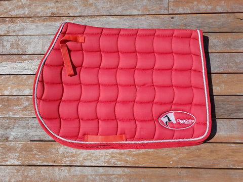 red saddle pad, all purpose saddle pad, saddle blanket, all purpose saddle blanket, red all purpose saddle pad, red all purpose saddle blanket
