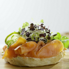 Smoked salmon bagels