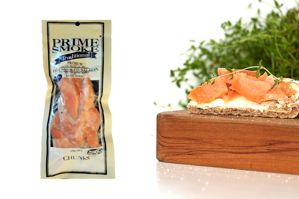Prime Smoke Hot Smoked Salmon Chunks – 100g