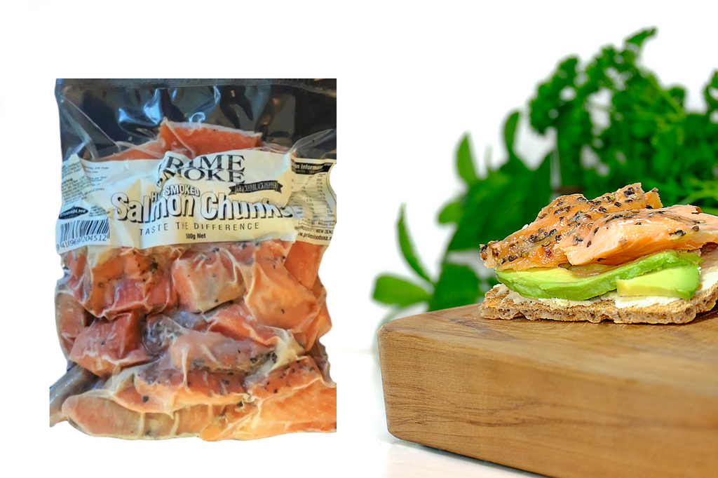 Prime Smoke Hot Smoked Salmon Pieces - 500g - Peppered