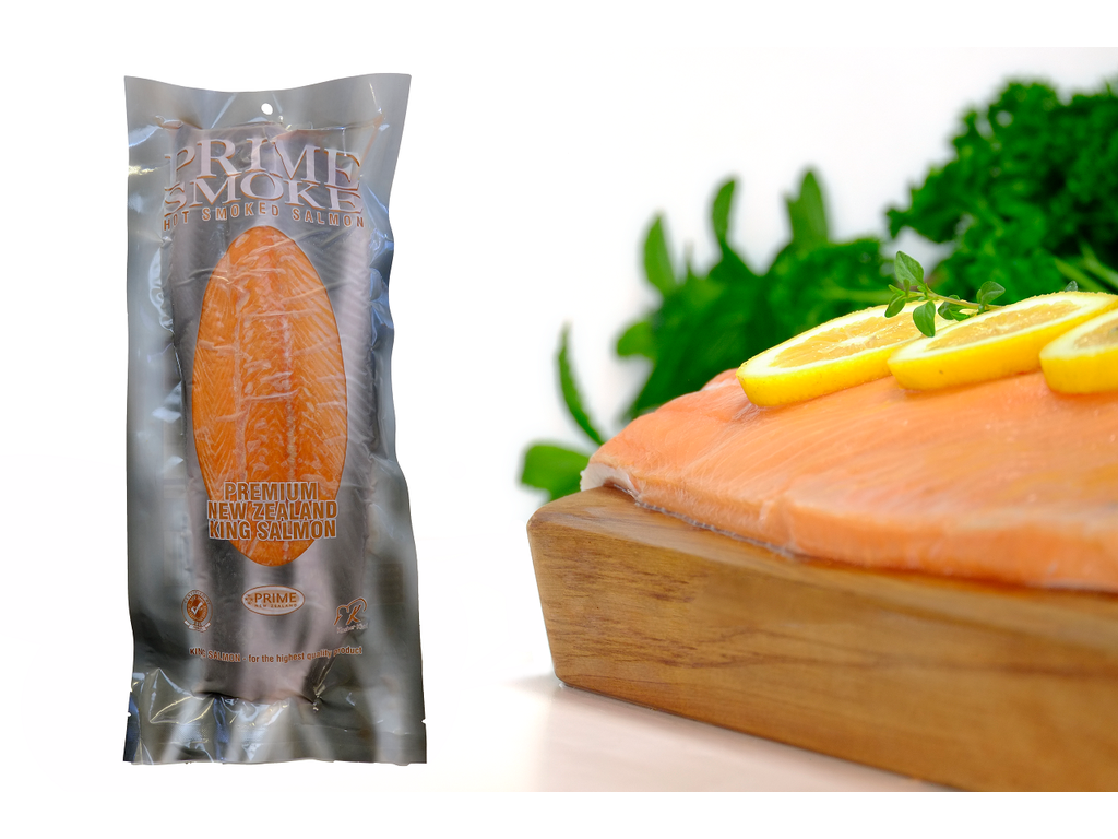 Prime Smoke Hot Smoked New Zealand King Salmon fillet, per kg