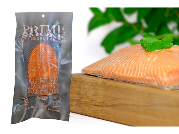 Prime Smoke Hot Smoked New Zealand King Salmon fillet - 500g
