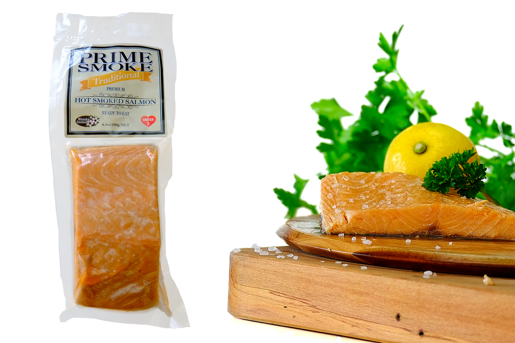 Prime Smoke Hot Smoke Salmon Portion – 180g Traditional-Prime Foods NZ