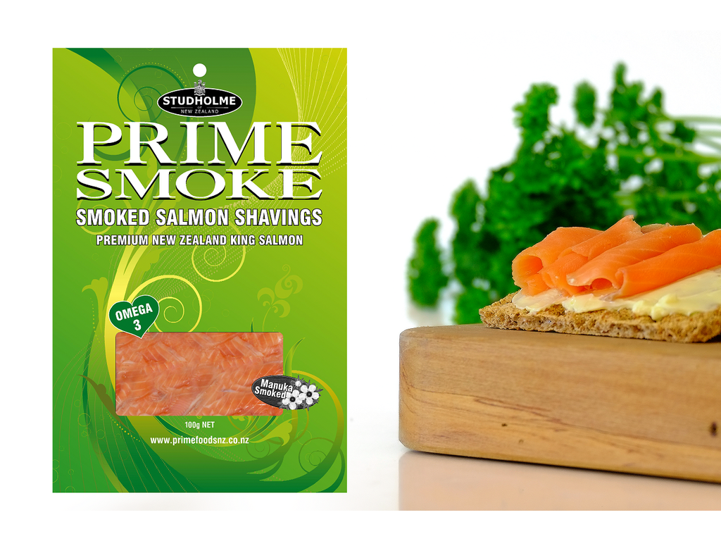 Prime Smoke 100g Cold Smoked NZ King Salmon Shavings
