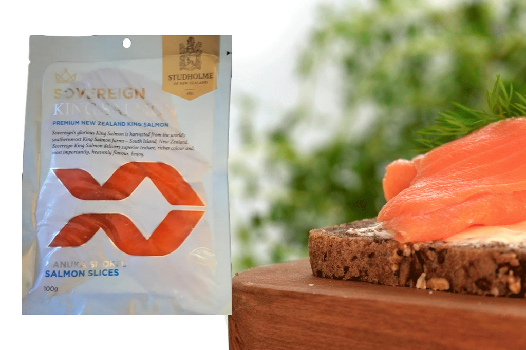 Sovereign 100g Cold Smoked NZ King Salmon Slices