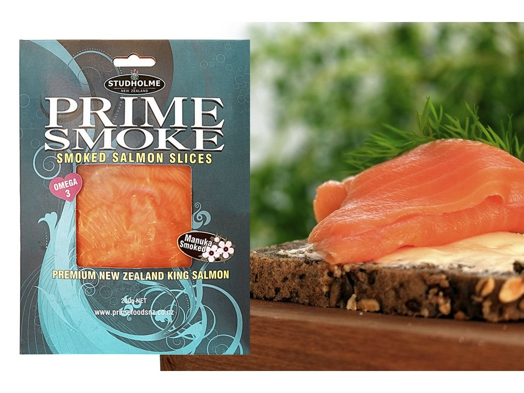 Prime Smoke 200g Cold Smoked NZ King Smoked Salmon Slices-Prime Foods NZ