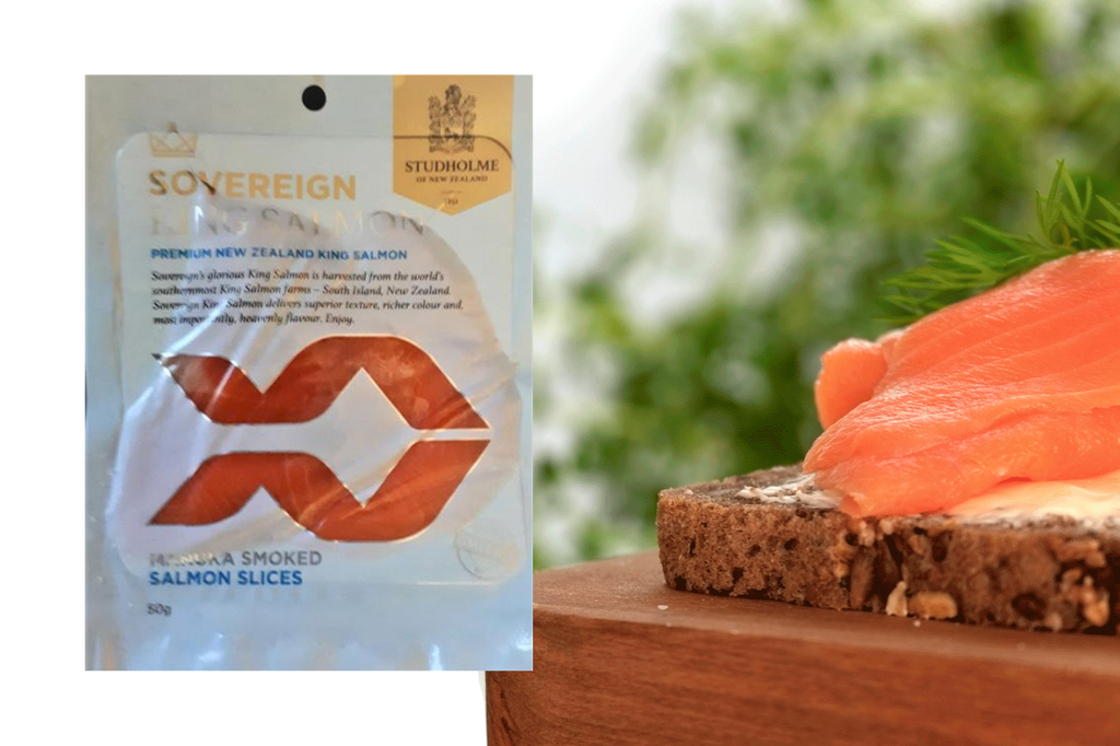 Sovereign 50g Cold Smoked NZ King Salmon Slices