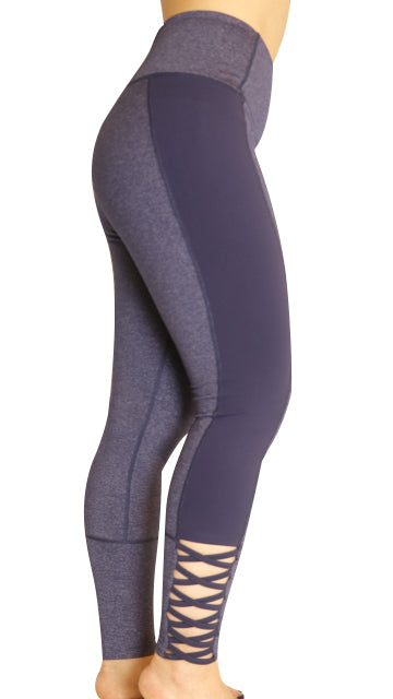 Crisscross Leggings With Hidden Pocket
